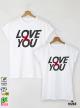 X Love Тениски за двойки с дизайнерски принт