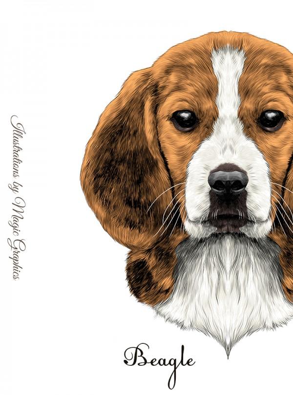 Beagle Dog Дамска Бяла Тениска с Дизайнерски Принт