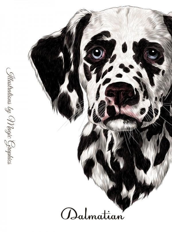 Dalmatian Dog Мъжка Бяла Тениска С Дизайнерски Принт