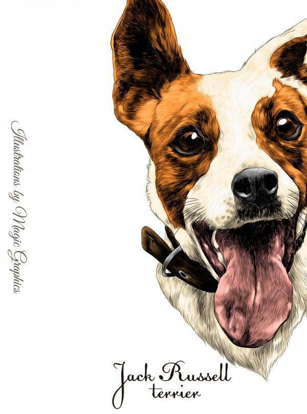 Jack Russell Terrier Дамска Бяла Тениска с Дизайнерски Принт