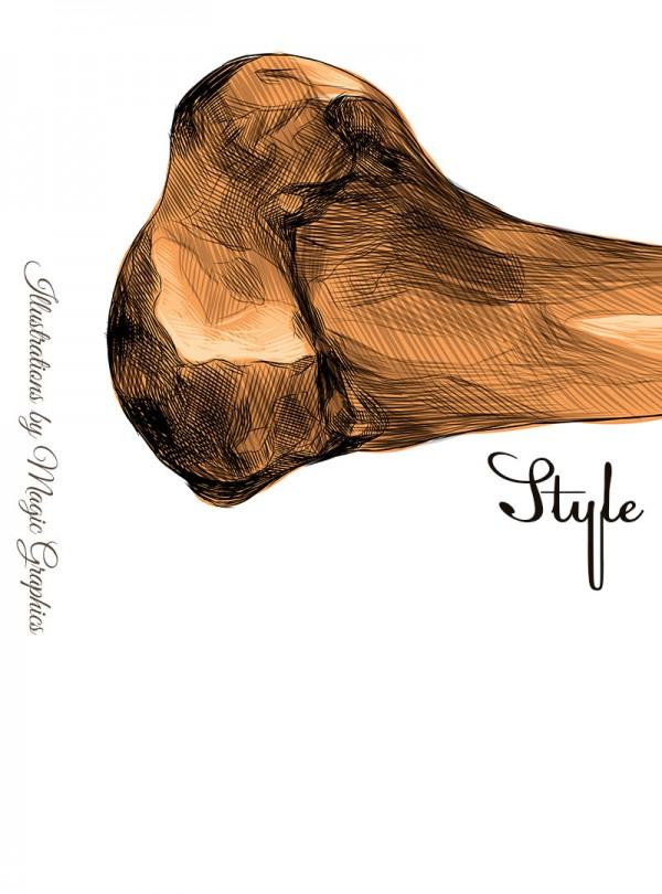 Dog Style Мъжка Бяла Тениска С Дизайнерски Принт