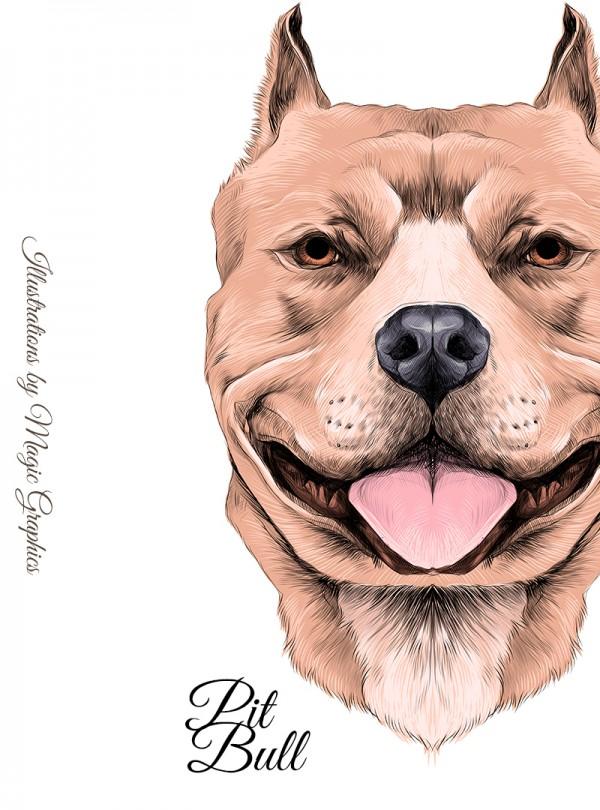 Pitbull Dog Дамска Бяла Тениска с Дизайнерски Принт