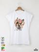 Yorkie So Cute Дамска Бяла Тениска С Дизайнерски Принт