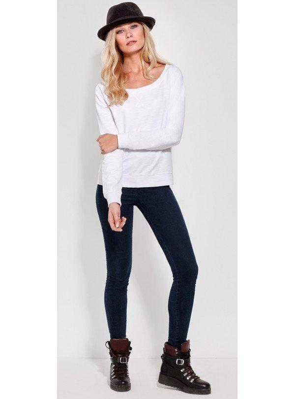 BUNNY Дамска снежно бяла Блуза с дизайнерски принт