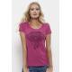 Camelia Pink Elephant Mandala Дамска Тениска От Органичен Памук И Лиосел С Дизайнерски Принт