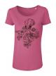 Camelia Pink Octopus Дамска Тениска От Органичен Памук И Лиосел С Дизайнерски Принт