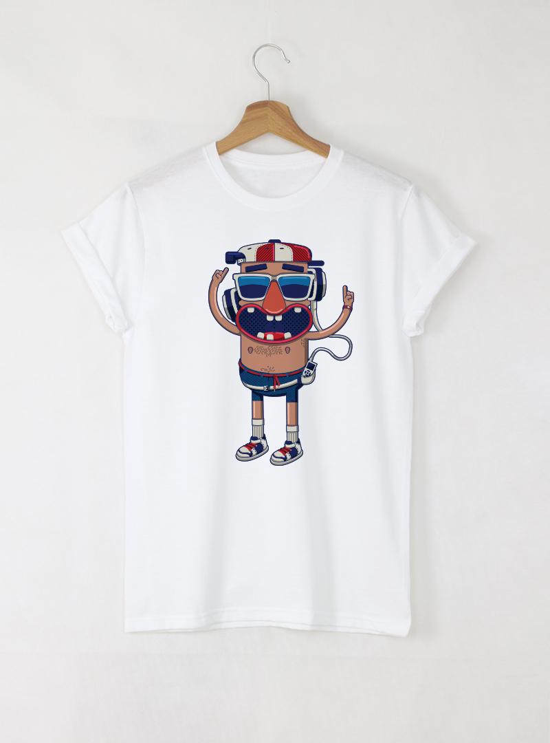 Beach Boy Мъжка Бяла Тениска с Дизайнерски Принт