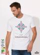 Ethno 02 Акварел Мъжка Бяла Тениска с Дизайнерски Принт