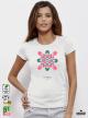 Ethno 03 Акварел - Дамска бяла тениска с дизайнерски принт