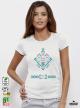 Ethno 05 Акварел - Дамска бяла тениска с дизайнерски принт