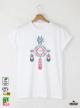 Ethno 06 Акварел Мъжка Бяла Тениска с Дизайнерски Принт