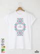 Ethno 08 Акварел Мъжка Бяла Тениска с Дизайнерски Принт
