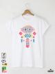 Ethno 10 Акварел Мъжка Бяла Тениска с Дизайнерски Принт