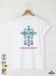 Ethno 01 Акварел Мъжка Бяла Тениска с Дизайнерски Принт
