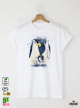 Aquarelle Penguin Детска бяла тениска за момче с дизайнерски принт