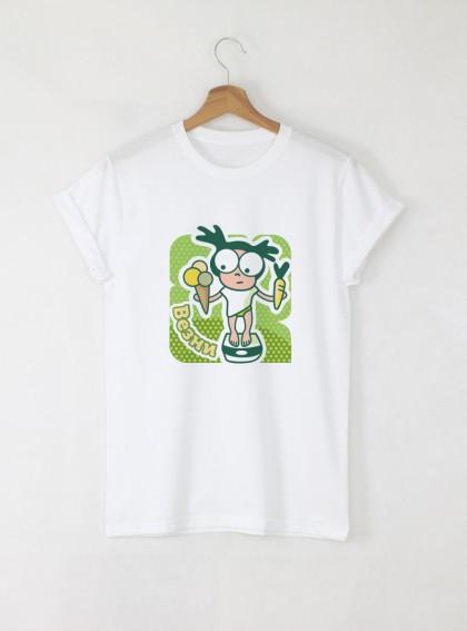 Зодия Везни Дамска бяла тениска с дизайнерски принт