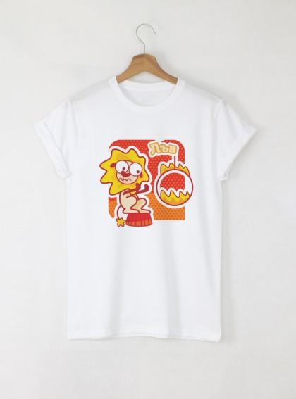Зодия Лъв Дамска бяла тениска с дизайнерски принт