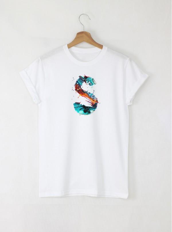 Дамска Бяла Тениска С Буква O