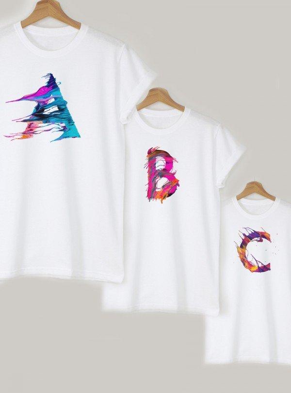 Дамска Бяла Тениска С Буква A