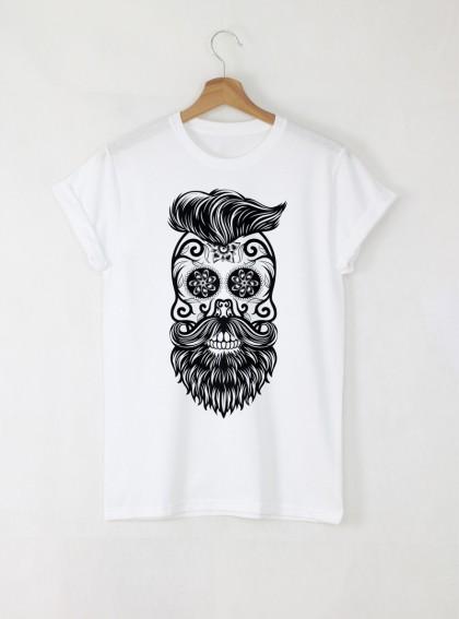 Hipster Мъжка Бяла Тениска с Дизайнерски Принт