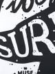 Surfs up Мъжка Бяла тениска с дизайнерски принт