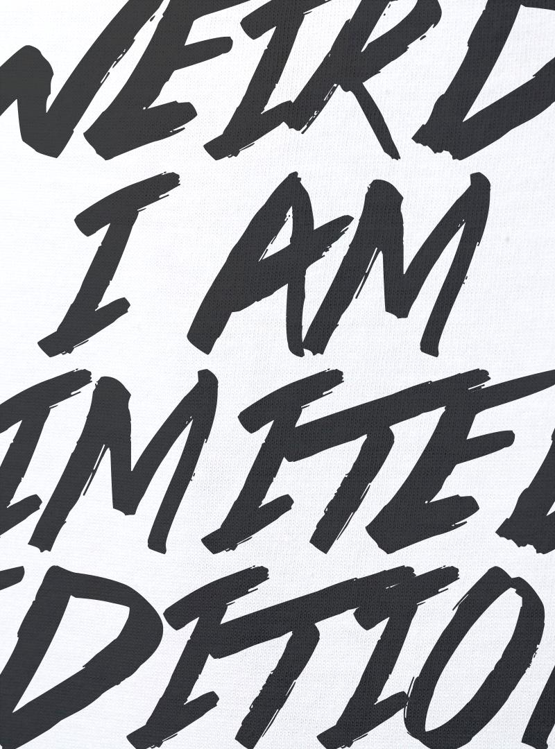I am limited edition Дамска Бяла Тениска С Дизайнерски Принт Азиатски Размер
