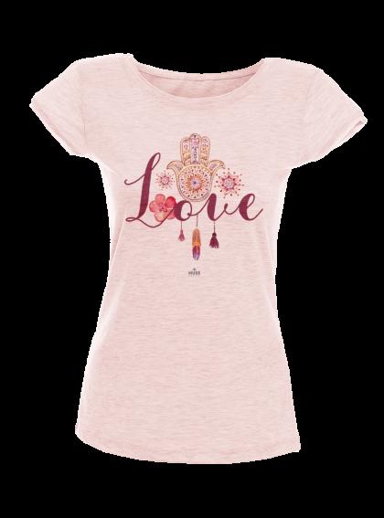 Fatima Love Aquarellе - Дамска тениска NY с дизайнерски принт