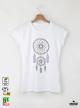 Dreamcatcher Ethno Дамска бяла тениска с дизайнерски принт